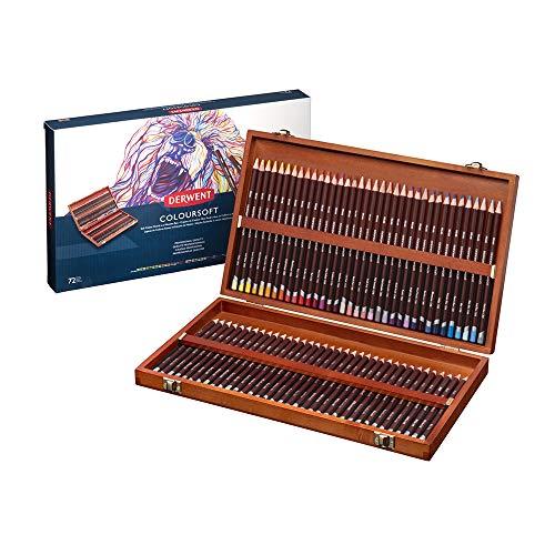 ダーウェント カラーソフト色鉛筆 72色セット 木箱入
