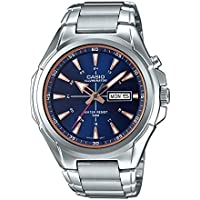Casio MTP-E200D-2A2V Men's Stainless Steel Illuminator Day Date Blue Dial Watch