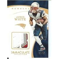 フットボールNFL 2017 Immaculate番号Memorabilia # 66 JamesホワイトMem 20 / 28 Patriots