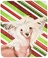 Caroline 's Treasures Chinese Crested Candy Cane Holidayクリスマスマウスパッド/ホットパッド/五徳(lh9257mp)