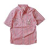 (ビルバン)BILLVAN 半袖 ギンガムチェック・ワークシャツ ビルバン メンズ アメカジ M RED(B)
