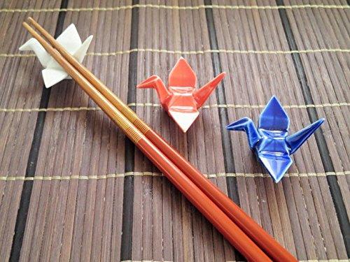 折鶴箸置き 6cm【和食器 美濃焼 アウトレット込 モダン おもてなし】 青