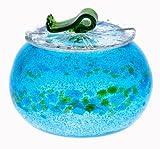 泡カレット菓子入れ 水色