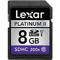 Lexar PlatinumII 200倍速 SDHC UHS-1カード Class10 8GB 国内正規品 LSD8GBBBJP200C10