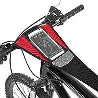 自転車 汗受けネット セーフティネット 電話バッグ付き 超吸水 使用やすい 自転車保護 室内トレーニング用 ブラック