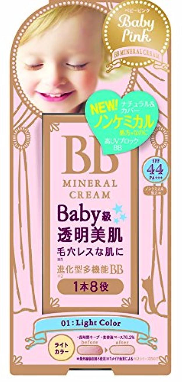 民兵平手打ち安全でないベビーピンク BBクリーム 01:ライトカラー 20g
