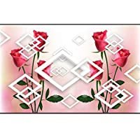 Ansyny 3D部屋の壁紙カスタム壁画不織布壁ステッカー3Dエレガントなピンクのバラの絵写真3D壁の壁画の壁紙-360X250CM