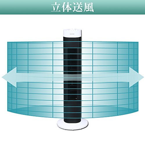 アイリスオーヤマ タワーファン タイマー付 風量3段階 ホワイト TWF-M71