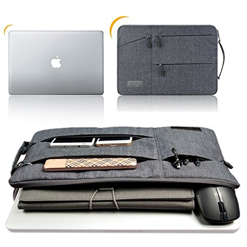 『WIWU 裏起毛 PCインナーバッグ 360°保護 11.6/12/13.3/15.6インチ 衝撃吸収 防水 pcケース ノートパソコンケース MacBook Air 13/MacBook Pro 13/surface pro/ThinkPad/Dynabook/Chromebook/ラップトップ/ウルトラブック用 PCバッグ (13.3inch グレー)』の5枚目の画像