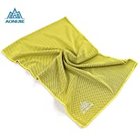 心地よいスポーツタオルフィットネスランニングマジック冷たい汗のスピードアイスタオル冷却汗タオルコールドタオルジンジャーイエロー
