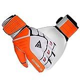 Lenwave サッカー ゴールキーパー グローブ ジュニア 子供用 保護手袋 耐熱 オレンジxホワイト