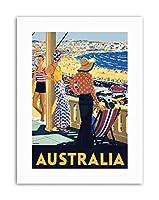 Australia Beach Sea Sand Sun Bondi Swim Travel Canvas Art Print