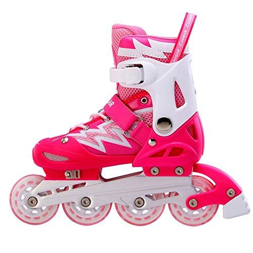 HORARA(ホララ) インラインスケート 子供用 キッズ ジュニア ピンク×ホワイト単品 M(21cm・22cm・23cm)