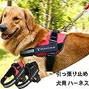 犬用 ハーネス 首輪 胴輪 引っ張り止め ハンドル付き 散歩歩きハーネス 小型犬用 レッド 子犬 s