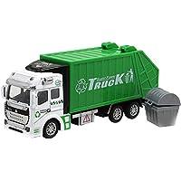 elegantstunning 子供のおもちゃの車のエンジニアリング車1:48プルバック合金車のモデル:ごみトラック
