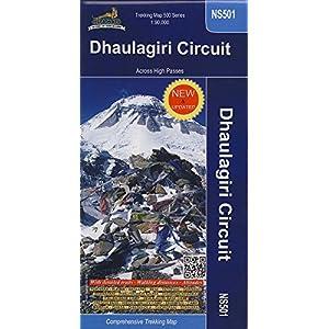 Dhaulagiri Circuit 1 : 90 000: Across High Passes. Trekking Map 500 Series. NS501