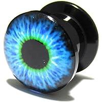 [モンスターキッズ]MONSTER KIDS 青い目玉アクリル インターナリースレッド プラグ 00G/1個 ボディピアス BPPL-05-00