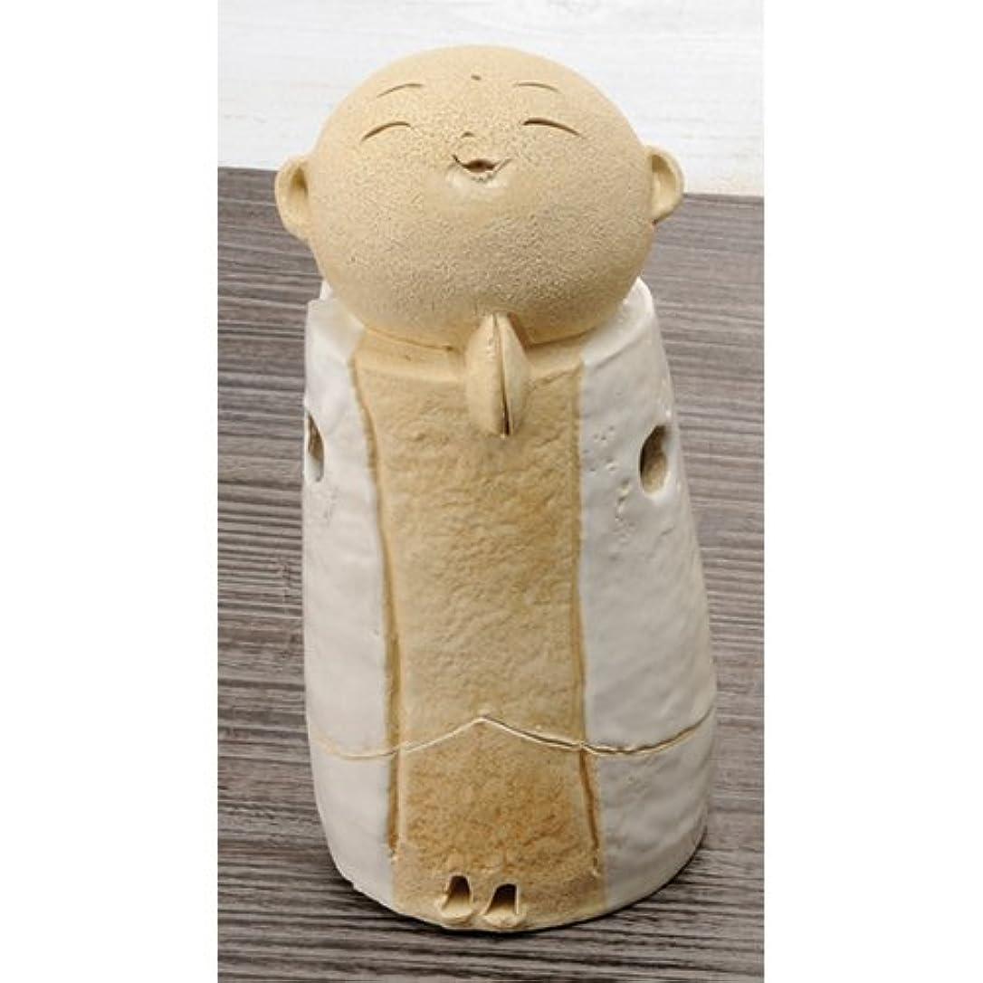 ペパーミント不一致モスお地蔵様 香炉シリーズ 白 お地蔵様 香炉 5.3寸(大) [H15.5cm] HANDMADE プレゼント ギフト 和食器 かわいい インテリア
