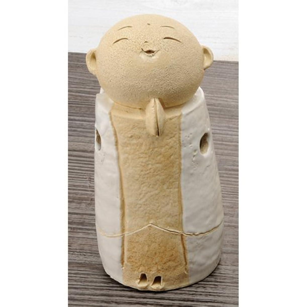 蓮モール一握りお地蔵様 香炉シリーズ 白 お地蔵様 香炉 5.3寸(大) [H15.5cm] HANDMADE プレゼント ギフト 和食器 かわいい インテリア