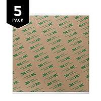 Gizmo Dorks 3M 468MP Adhesive Transfer Tape Sheets 4.6 x 4.6 (5-Pack) [並行輸入品]