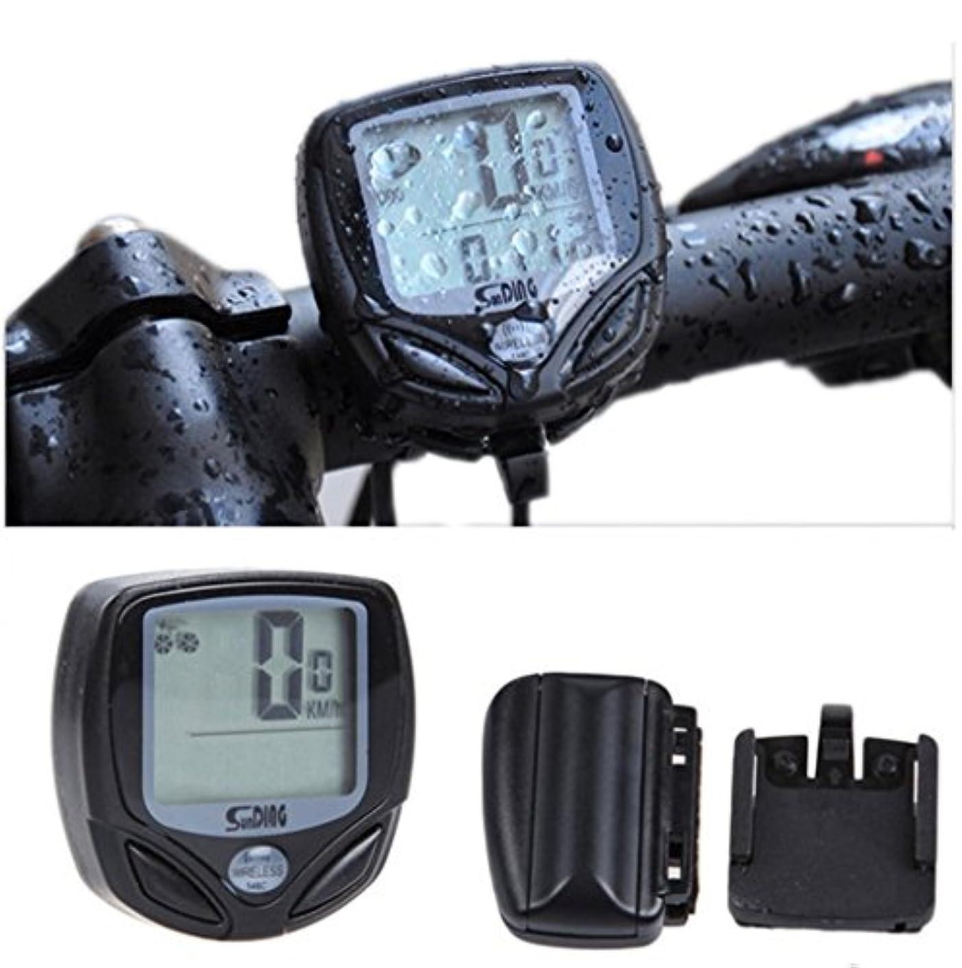 正統派差し迫ったスペード防水サイクリング自転車走行距離計Bycicle速度計、マルチ機能ワイヤレスサイクルコンピュータ