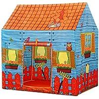 Lian子プレイテントインドア大きな家折りたたみ式海洋ボールプールPlay House (1029572 cmのパックの1 ) オレンジ 14701