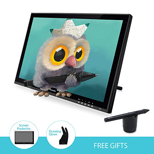 HUIONR Graphic monitor for professional - glove attached drawing tablet with screen GT-190S
