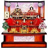 雛人形 五人揃三段飾り 【王朝】セット 30号(5人)[幅90cm] 王朝?焦茶塗[sb-2-26] 雛祭り