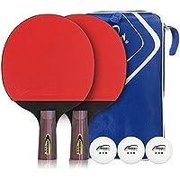 卓球ラケット両面 (貼り上がり プラスチックボール2個付き) ボール 手軽