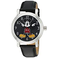 Disney Women's 'Mickey Mouse' Quartz Metal Watch, Color:Black (Model: W002757)