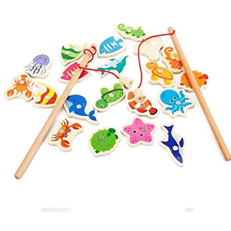 釣りゲーム 木製 磁気釣り 早期幼児知育 釣りキッズ 子供 おもちゃ 赤ちゃん  知育おもちゃ