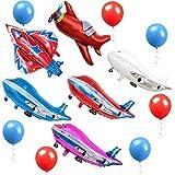 飛行機バルーン パーティー飾り付け ロケット風船 ラテックスバルーン レッドブルー ベビーシャワー誕生日パーティー飾り 幼稚園 部屋装飾 60枚セット