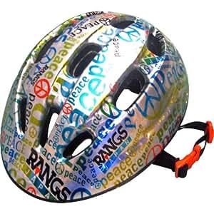 ラングスジャパン (RANGS) ラングスジュニアスポーツヘルメット ピース シルバー/ブルー SG規格合格品