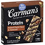 Carman's Gourmet Protein Bar Salted Dark Choc & Almond, 5-Pack (200g)