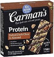 Carman's Gourmet Protein Bar Salted Dark Choc & Almond, 5-Pac