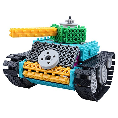FlyCreat 電動おもちゃ タンク仕様 おもちゃ 知育玩具 子供のおもちゃ ラーニングトイ つみき お祝いプレゼント 知恵おもちゃ 創造力 想像力 組み立ておもちゃ カラフル 誕生日プレゼント 男の子 小学生 DIY手作り 戦車 子供ペレゼント(145ピース)