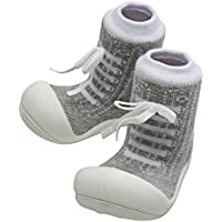 Attipas Sneaker Baby Walker Shoes, Grey, Large