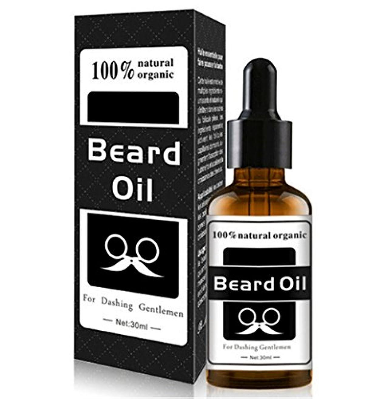 ペック注目すべき擁する男性用30ml 1オンスひげ油ひげ口髭成長エッセンシャルオイルアイブロー毛髪成長用トリートメント液、100%オーガニックナチュラル (white)