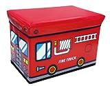 ユーカンパニー U-company ストレージボックス スツール ファイヤートラック 耐荷重80kg 座れる収納ボックス