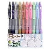 ゼブラ ジェルボールペン サラサクリップ 1.0 10色 仏像なぞり塗り絵付 JJE15-10C-BN