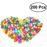 TOYMYTOY Ball Pit Balls Plastic Balls Crush Proof Ocean Ball Toy with Storage Mesh Bag for Kids - 200 Pieces