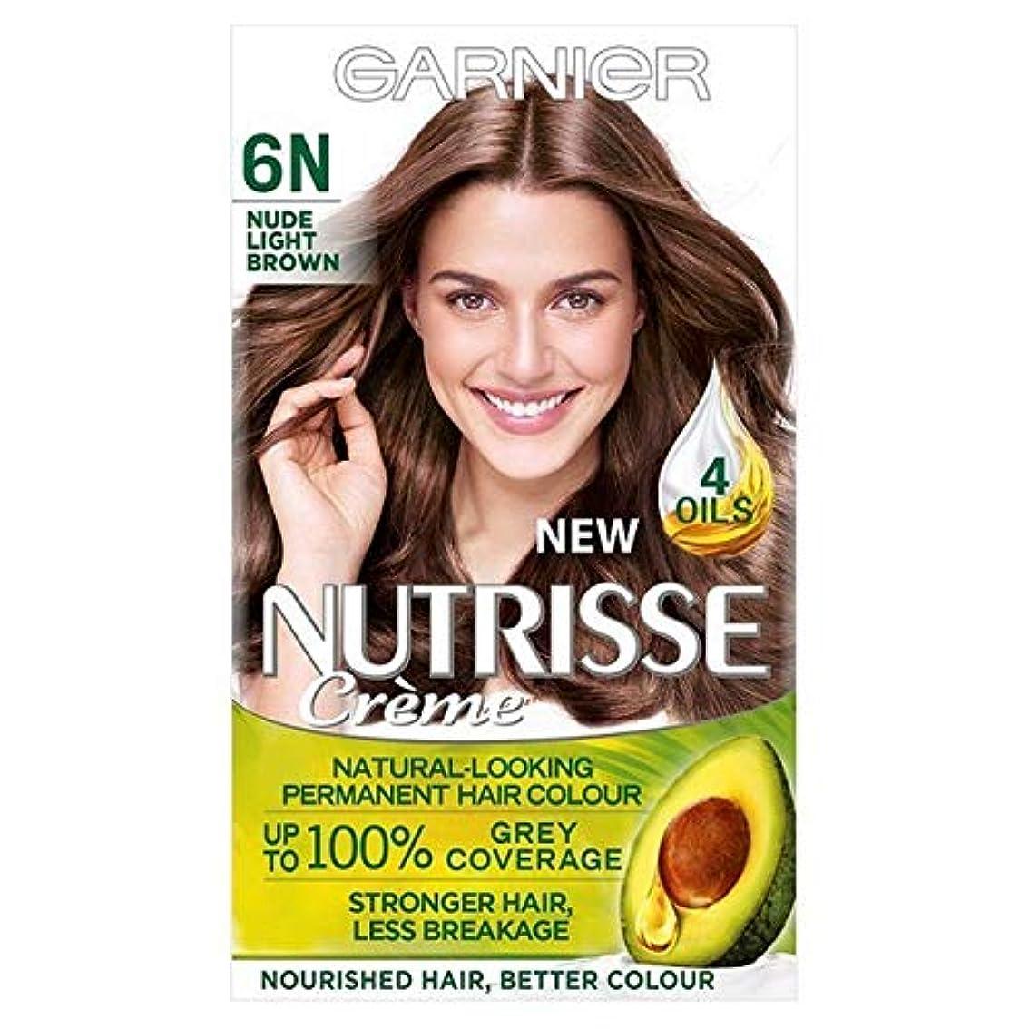 お手伝いさんスーパーマーケット戸棚[Garnier ] ガルニエNutrisseヌード染毛剤6.132ライトブラウン - Garnier Nutrisse Nude Hair Dye 6.132 Light Brown [並行輸入品]