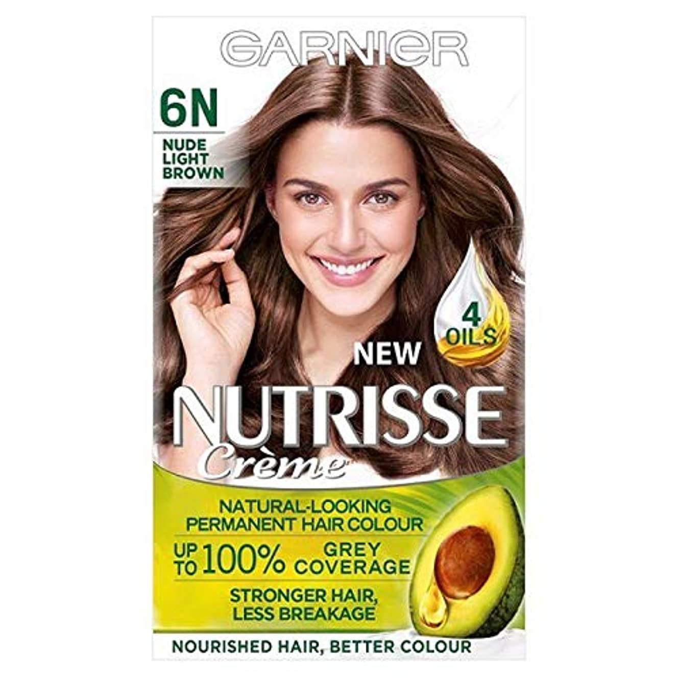 親指野心的あたり[Garnier ] ガルニエNutrisseヌード染毛剤6.132ライトブラウン - Garnier Nutrisse Nude Hair Dye 6.132 Light Brown [並行輸入品]