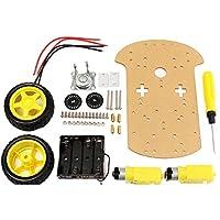 Prament スマートモーターロボット車バッテリーボックスシャーシキット DIY 速度エンコーダの Arduino