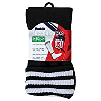 (Large) - Franklin Sports ACD Black/White Soccer Socks