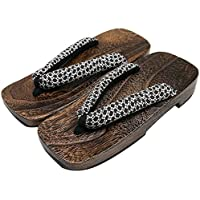 KYOETSU Men's Japanese Wooden Geta Sandals