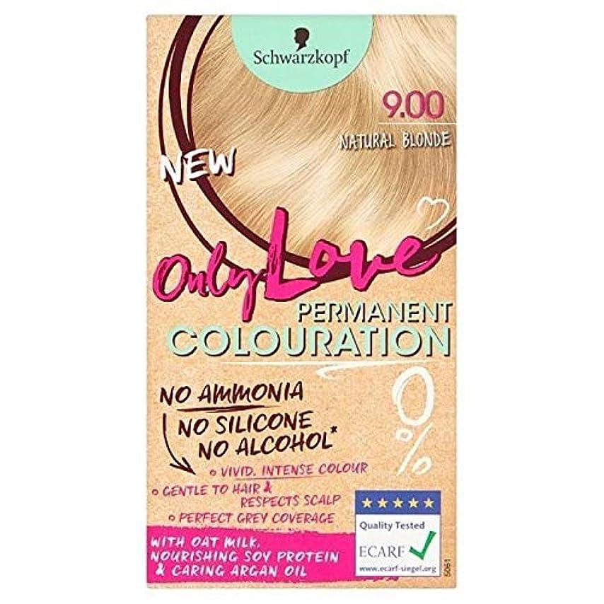 作り上げるる本会議[Only Love ] 唯一の永久染毛剤900ナチュラルブロンド大好き - Only Love Permanent Hair Dye 900 Natural Blonde [並行輸入品]