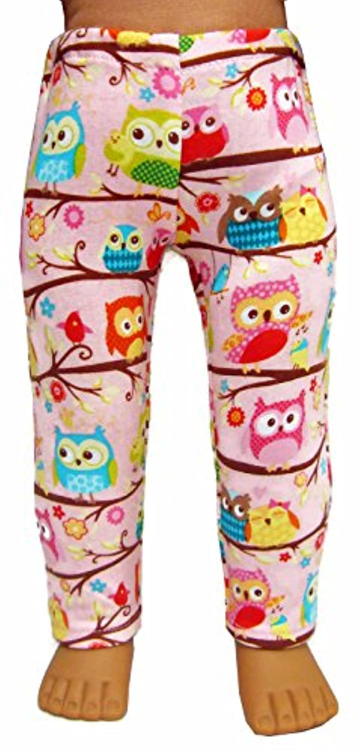 Pink Owl Leggings for 18