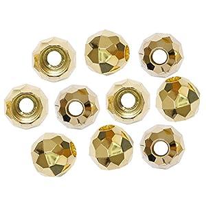 ジャスミン ラウンドカット ループエンド 15mm 10個入 ゴールド N515
