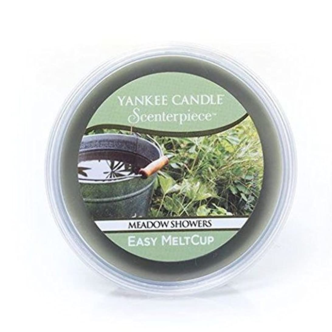 粘り強い宅配便リルYankee Candle Meadow Showers Scenterpiece Easy MeltCup、新鮮な香り